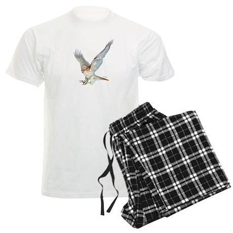 striking Red-tail Hawk Men's Light Pajamas