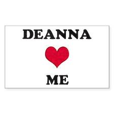 Deanna Loves Me Rectangle Decal