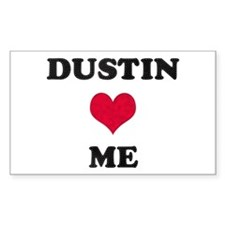 Dustin Loves Me Rectangle Decal