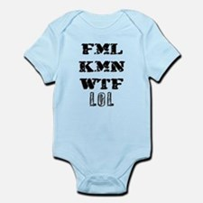FML KMN WTF lol Infant Bodysuit