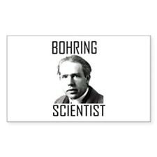 Bohr-ing Scientist Rectangle Decal
