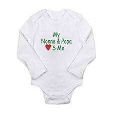 nona papa heart me g red Body Suit