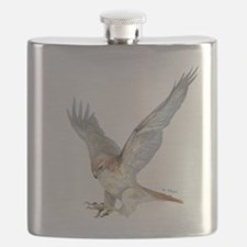 striking Red-tail Hawk Flask