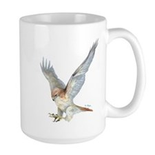 Lefty-striking Red-tail Hawk Mug