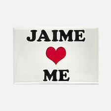 Jaime Loves Me Rectangle Magnet