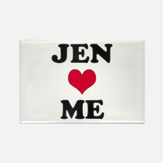 Jen Loves Me Rectangle Magnet