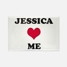 Jessica Loves Me Rectangle Magnet
