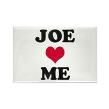 Joe Loves Me Rectangle Magnet
