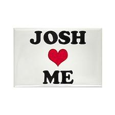 Josh Loves Me Rectangle Magnet