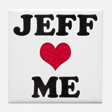 Jeff Loves Me Tile Coaster