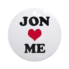 Jon Loves Me Round Ornament