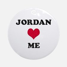 Jordan Loves Me Round Ornament