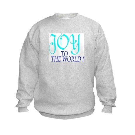 Blue Joy to the World Kids Sweatshirt