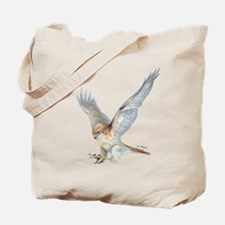 striking Red-tail Hawk Tote Bag