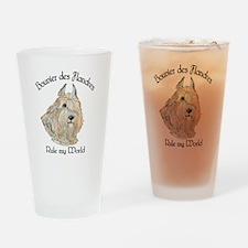 Bouvier des Flandres Wheaten Drinking Glass