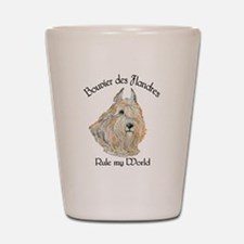 Bouvier des Flandres Wheaten Shot Glass