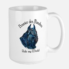 Bouvier des Flandres Rule Large Mug