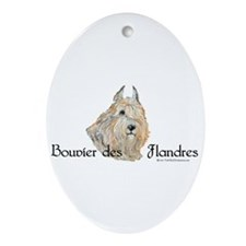 Bouvier Sweetie Ornament (Oval)
