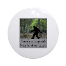 SASQUATCH LIVING IN THESE WOODS Ornament (Round)