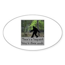 SASQUATCH LIVING IN THESE WOODS Decal