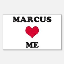 Marcus Loves Me Rectangle Decal