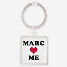 Marc Loves Me Square Keychain