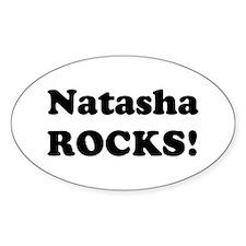 Natasha Rocks! Oval Decal