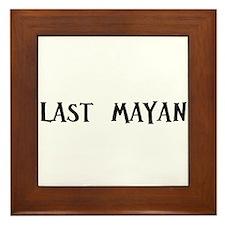 Last Mayan Framed Tile