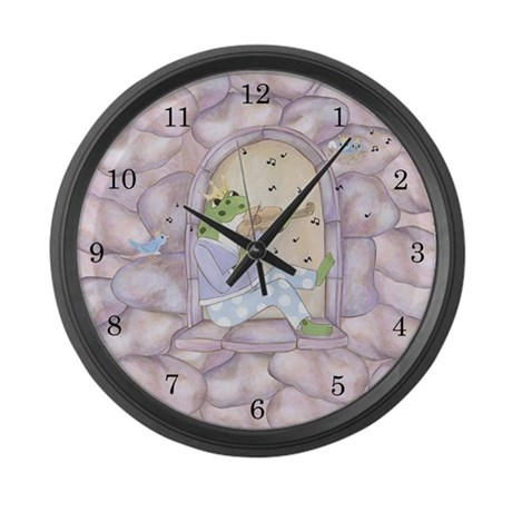 Frog Prince Large Wall Clock