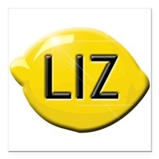 "Liz Lemon Square Car Magnet 3"" x 3"""