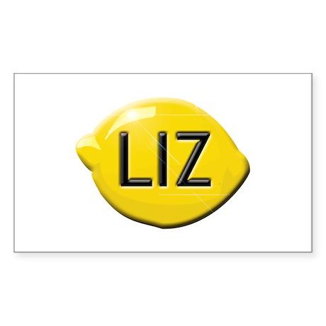 Liz Lemon Sticker (Rectangle)