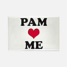 Pam Loves Me Rectangle Magnet