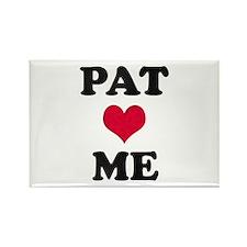 Pat Loves Me Rectangle Magnet