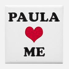 Paula Loves Me Tile Coaster