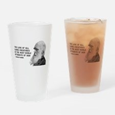 Darwin Portrait - Love of Creatures Drinking Glass