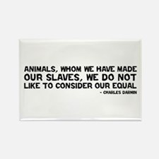 Quote Darwin - Animals Our Equal Rectangle Magnet