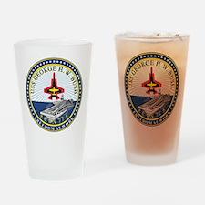 USS Bush CVN 77 Drinking Glass