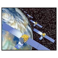 Communication satellites Poster