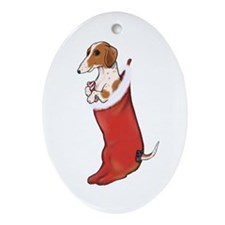 Cute Weenie christmas Ornament (Oval)