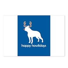 "Boston Terrier ""Happy Howlida Postcards (Package o"