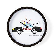 Wee Police Car! Wall Clock