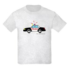Wee Big Police Car! Kids T-Shirt