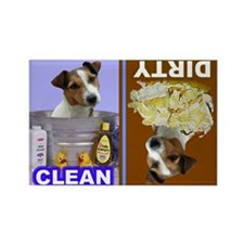 Cute Jack russell terrier Rectangle Magnet (100 pack)