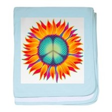 Peace Flower baby blanket