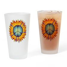 Peace Flower Drinking Glass