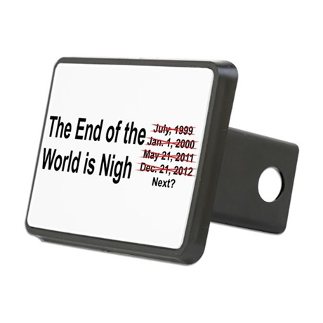 End of the World is Nigh button Rectangular Hitch