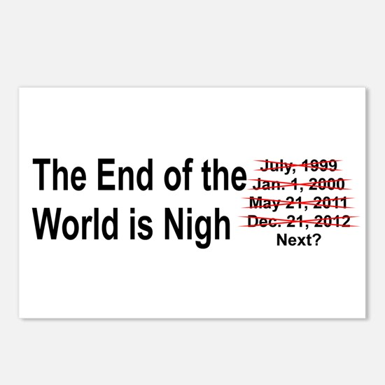 End of the World is Nigh button Postcards (Package