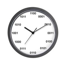 Binary Number System Wall Clock