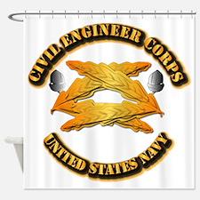 Navy - Civil Engineer Corps Shower Curtain