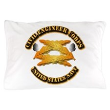 Navy - Civil Engineer Corps Pillow Case